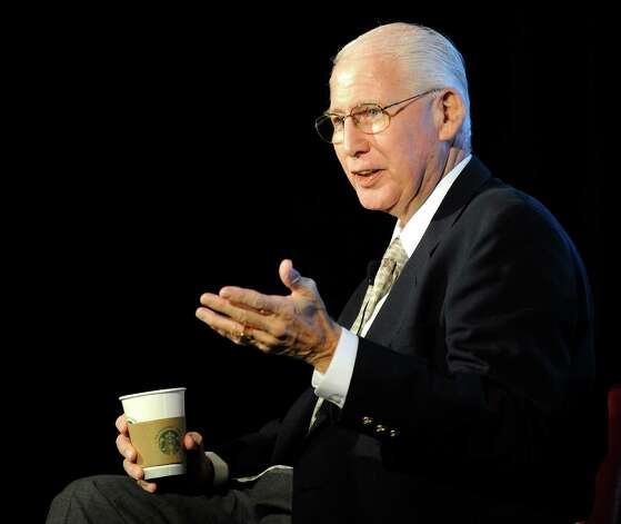 Kansas State head coach Bill Snyder answers questions at NCAA college football Big 12 Media Days, Monday, July 23, 2012, in Dallas. (AP Photo/Matt Strasen) Photo: Matt Strasen, Associated Press / FR170476 AP