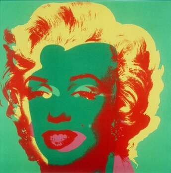 """ADVANCE FOR WEEKEND EDITIONS, FEB. 1-4--A 1967 Andy Warhol silkscreen of Marilyn Monroe is part of a retrospective show running through March 18, 2001, at the International Center of Photography in New York. """"Andy Warhol: Photography,"""" features 300 images by a pioneer of the Pop art movement. (AP Photo/International Center of Photography) (AP)"""