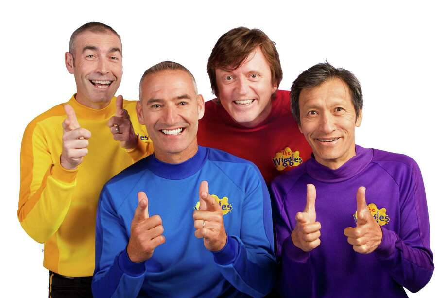One of the most popular kids' groups in the world, the Wiggles, comes to Wallingford on Tuesday, Aug. 14. From left, Yellow Wiggle Greg Page, Blue Wiggle and group founder Anthony Field, Red Wiggle Murray Cook and Purple Wiggle Jeff Fatt. Photo: Contributed Photo / Connecticut Post Contributed