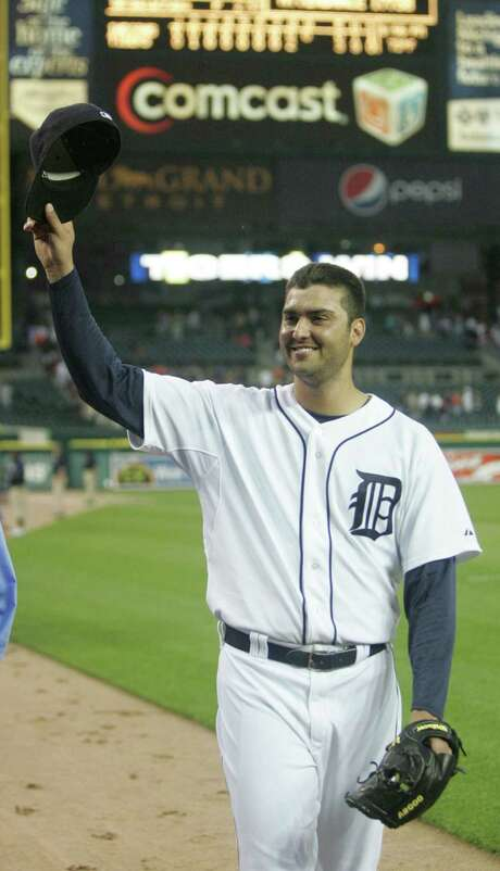 Detroit Tigers pitcher Armando Galarraga waves to fans after pitching a near-perfect game against the Cleveland Indians at Comerica Park in Detroit, Michigan, on Wednesday, June 2, 2010. (Kirthmon F. Dozier/Detroit Free Press/MCT) Photo: Kirthmon F. Dozier / Detroit Free Press