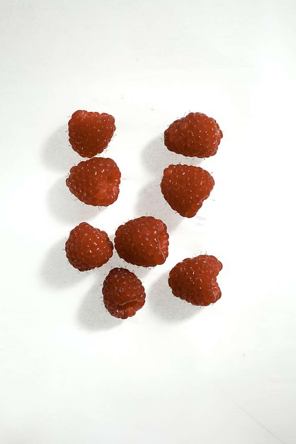 Raspberries as seen in San Francisco, California, Wednesday, July 25, 2012.