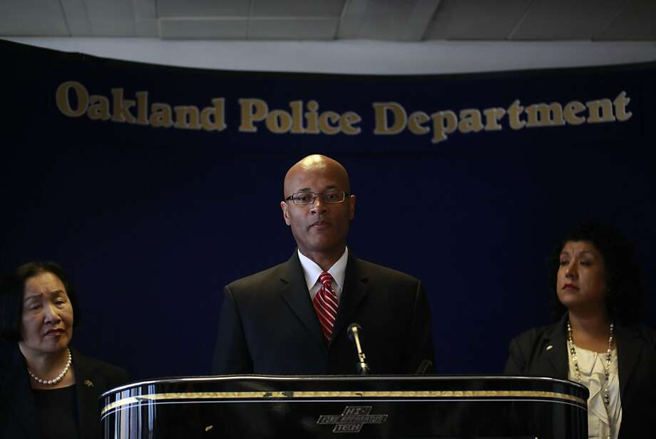 Oakland Mayor Jean Quan, Oakland Police Chief, Howard Jordan and City Administrator Deanna Santana take questions during a press conference on Thursday June 14, 2012 in Oakland, Calif.,  announcing the findings from a 121 page outside report commissioned into the handling of the Occupy protest from last year.