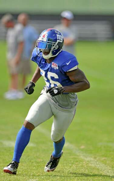 New York Giants safety Antrel Rolle during a training camp practice at UAlbany on Thursday Aug. 2, 2