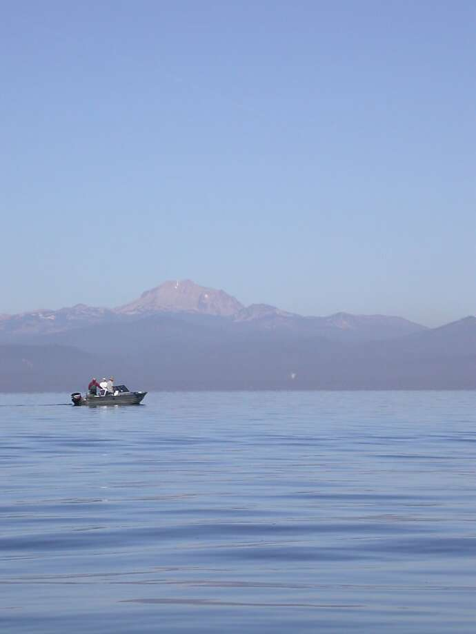 Lake Almanor's azure waters stretch seemingly forever at the back of Lassen Peak. Photo: Tom Stienstra, The Chronicle