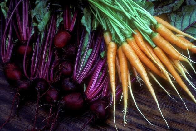 'Detroit' beets and 'Orange Sherbert' carrots Photo: William D. Adams