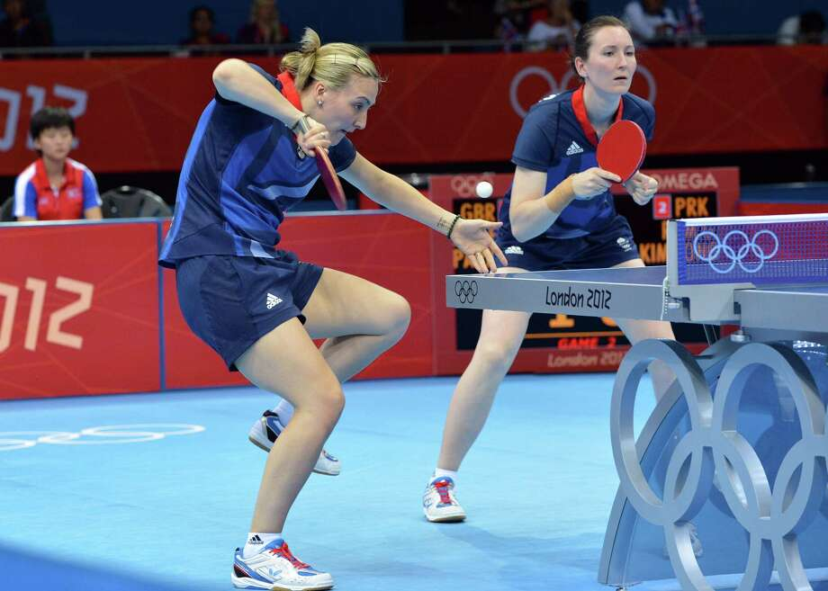 Table tennis made its Olympic debut at the 1988 Seoul Games. Here, Britain's Kelly Sibley, left, and Joanna Parker compete at the London 2012 Olympic Games. AFP Photo / Saeed KhanSAEED KHAN/AFP/GettyImages Photo: SAEED KHAN, AFP/Getty Images / AFP