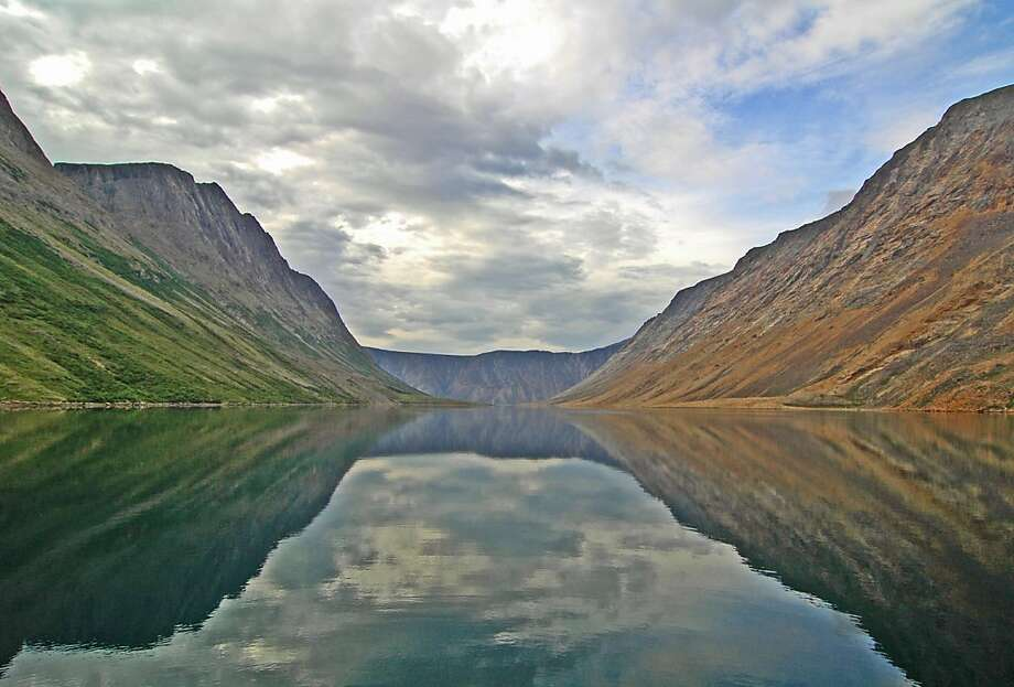 The double view from a campsite on the North Arm of the Saglek fjord. Photo: Bill Fink, Special To The Chronicle