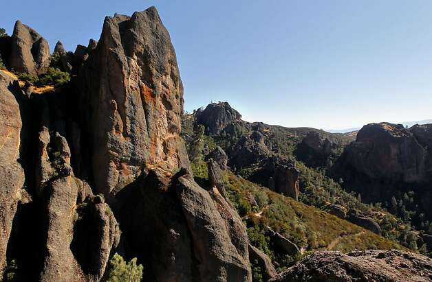 High Peaks area of the Pinnacles National Monument is seen on Wednesday August 1, 2012, in central California. Pinnacles would become the 59th U.S. national park under a bill that cleared the House on Tuesday with bipartisan support. The bill creating Pinnacles National Park is aimed at raising the national profile of the site, named a monument by President Theodore Roosevelt in 1908. Photo: Michael Macor, The Chronicle