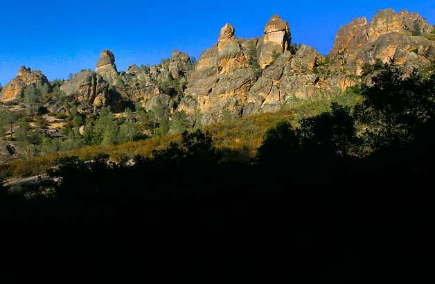 Looking at the West side of the High Peaks, at Pinnacles National Monument, on Wednesday August 1, 2012.  The central California monument would become the 59th U.S. national park under a bill that cleared the House on Tuesday with bipartisan support. The bill creating Pinnacles National Park is aimed at raising the national profile of the site, named a monument by President Theodore Roosevelt in 1908. Photo: Michael Macor, The Chronicle