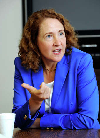Elizabeth Esty, Democratic candidate for Congress in the 5th District, meets with The News-Times editorial board Tuesday, July 24, 2012. Photo: Carol Kaliff / The News-Times