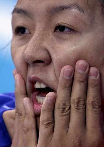 Chinese water polo player Song Donglun (Julio Cortez / Associated Press)