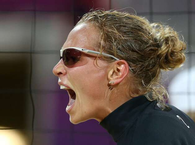 Netherlands beach volleyball player Sanne Keizer (Petr David Josek / Associated Press)