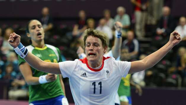 British handball player Lyn Byl (Javier Soriano / Getty Images)