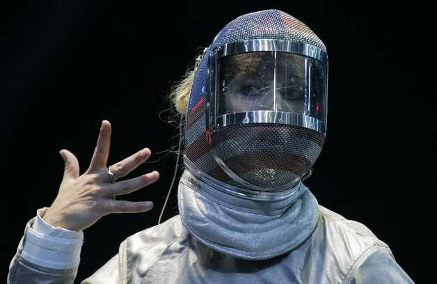 U.S. fencer Mariel Zagunis (Dmitry Lovetsky / Associated Press)