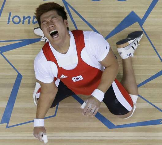 South Korean weight lifter Sa Jae-hyouk (Ben Curtis / Associated Press)