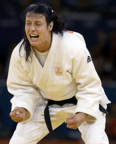 Netherlands judo competitor Edith Bosch (Paul Sancya / Associated Press)