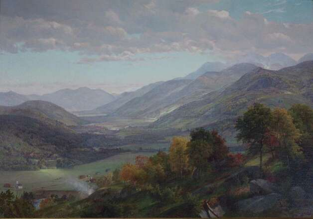 Adirondack Landscape [Elizabethtown], 1864, by William Trost Richards (1833-1905). (Adirondack Museum)