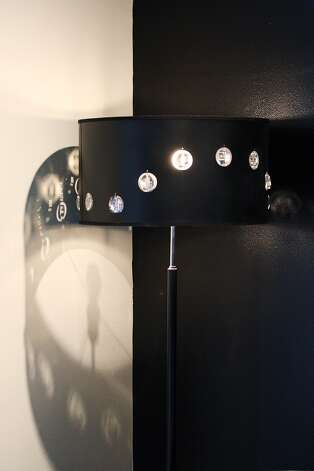 Lamp Shades  Antonio on Shade Lamp With Crystals Provides Lighting For The Living Room Area