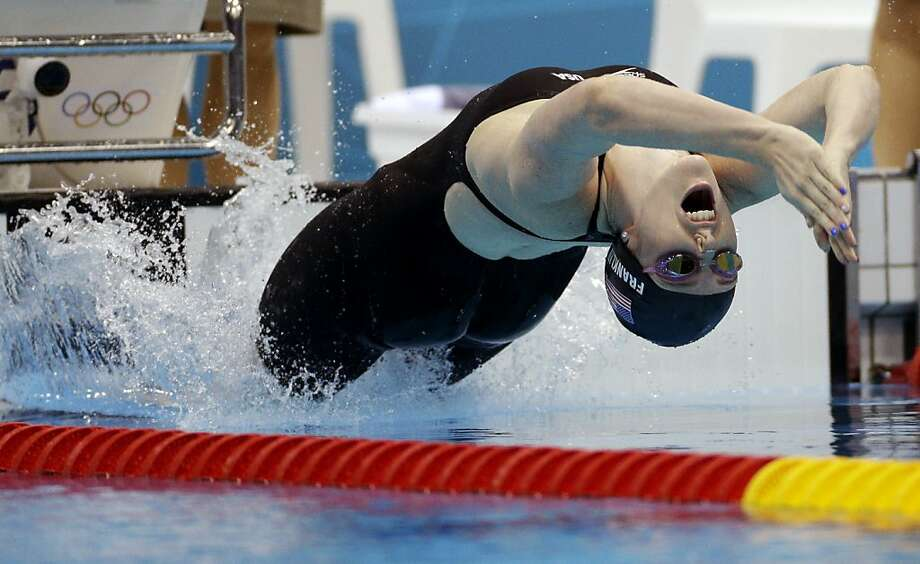 Missy Franklin excels in the backstroke (above) and freestyle events, and plans to turn pro after the spring season in 2015. Photo: Michael Sohn, Associated Press