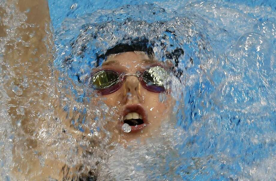 Missy Franklin set a world record in winning the gold medal in the 200-meter backstroke  in London. Photo: Julio Cortez, Associated Press