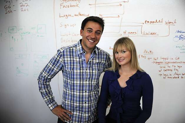Sam Zaid and Jessica Scorpio, co-founders of Getaround, run the service in San Francisco, San Diego, Portland and Boston. Photo: Yue Wu, The Chronicle