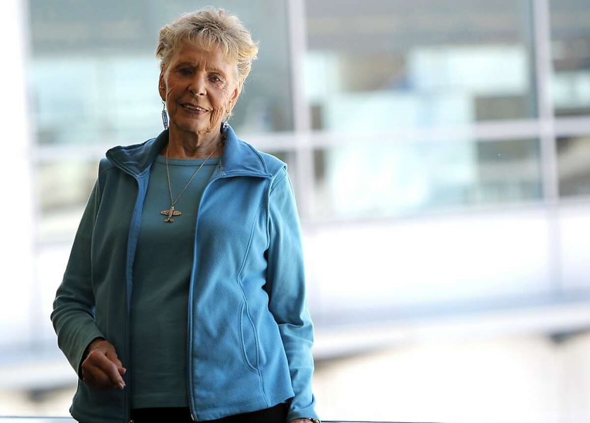 Jeanne McElhatton, the co-founder and president of Fear of Flying is seen at the San Francisco International airport on Tuesday, July 24, 2012, in San Francisco, Calif.