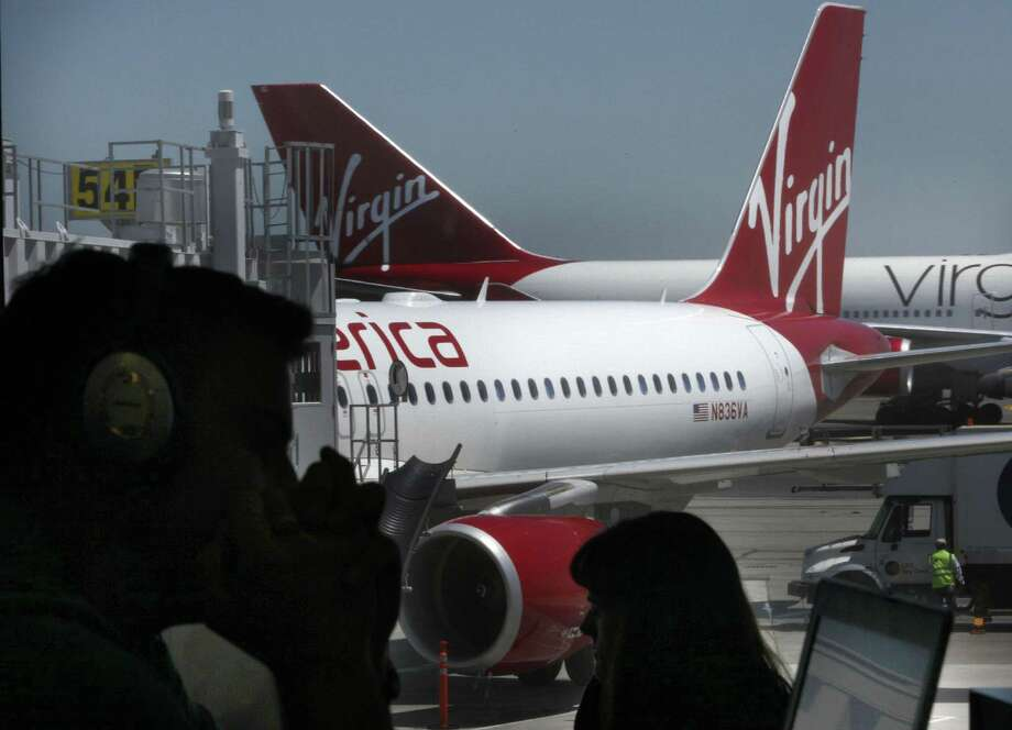 Virgin America of Burlingame, which serves San Francisco International Airport, started service in August 2007. Photo: Liz Hafalia / The Chronicle / ONLINE_YES