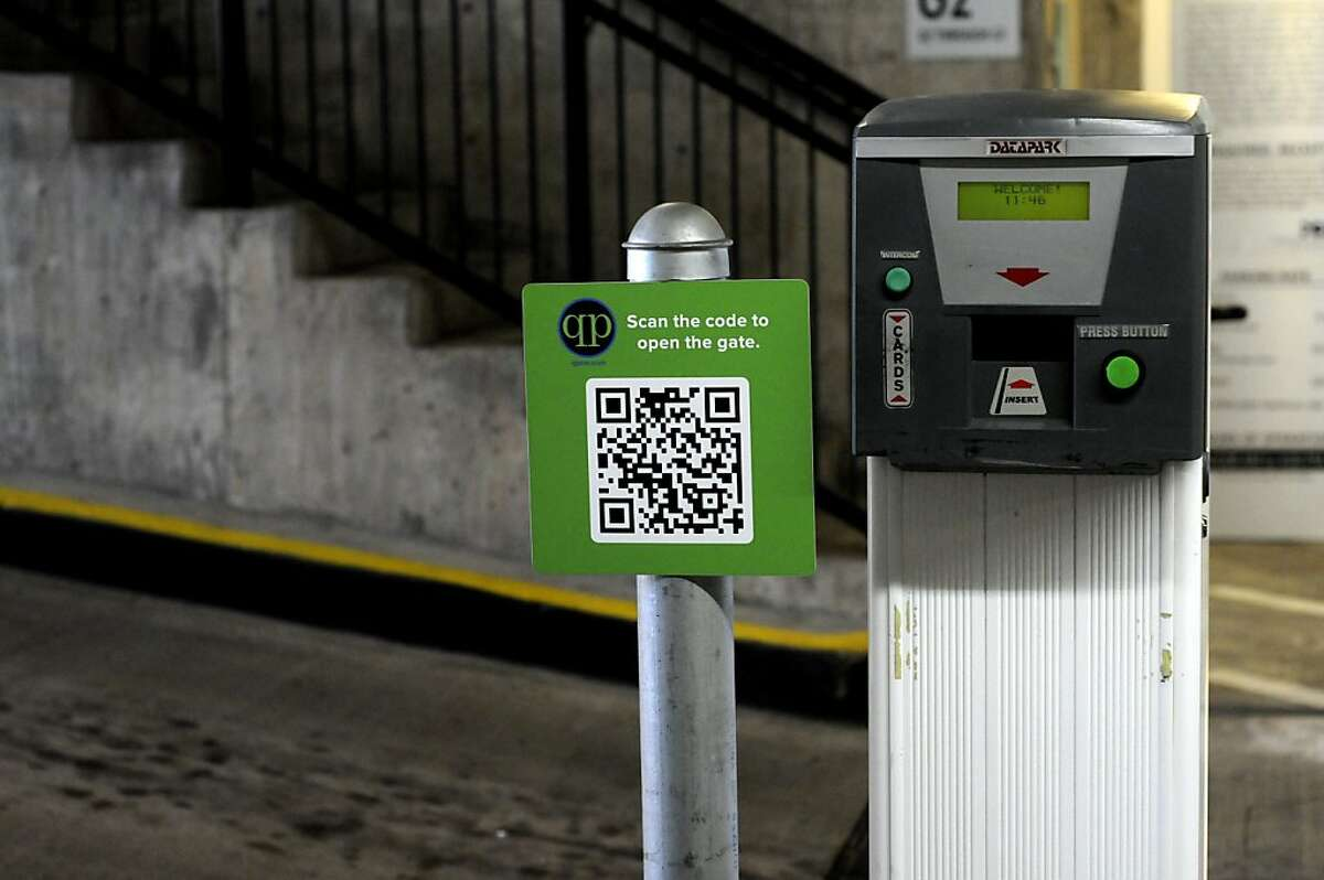The parking lot at 7th and Townsend streets in San Francisco uses QuickPay, an application that lets parking lots lease out spaces at times when they are not being used by regular parkers. The application also allows customers to pay using their credit cards by scanning a QR code.