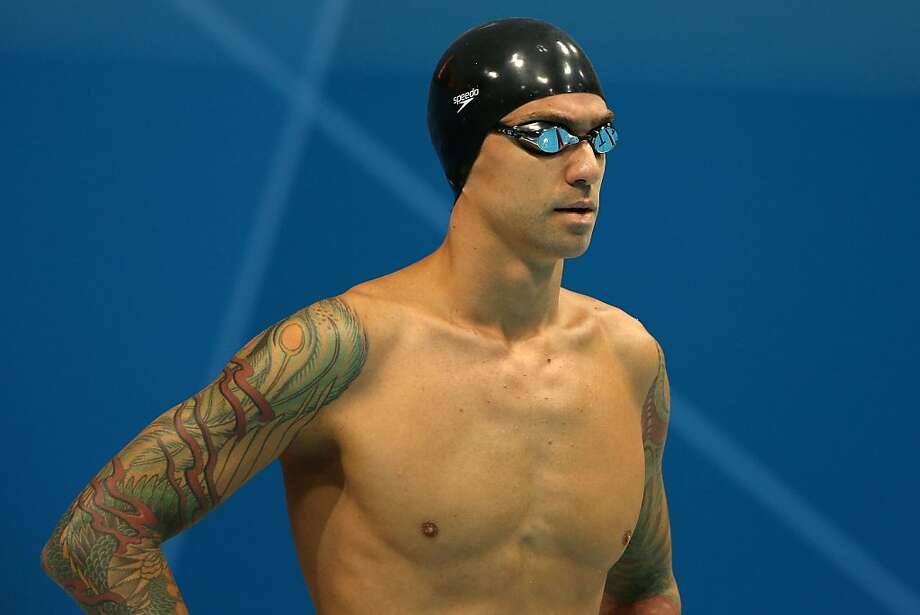 Ex-Cal swimmer Anthony Ervin did much more than get tattoos after winning the 50 free in Sydney. Photo: Ezra Shaw, Getty Images