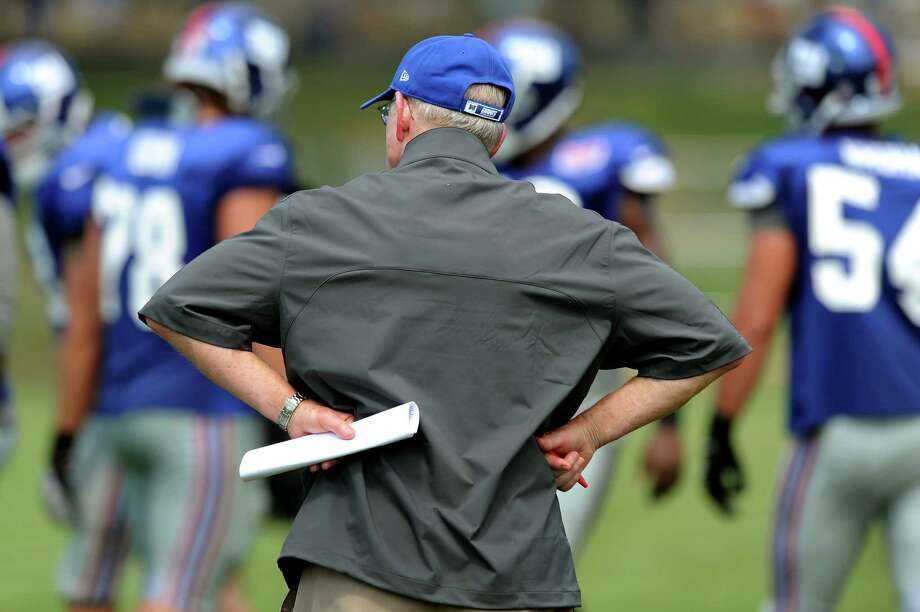 New York Giants head coach Tom Coughlin during Giants Camp on Friday, Aug. 3, 2012, at the UAlbany in Albany, N.Y. (Cindy Schultz / Times Union) Photo: Cindy Schultz / 00018640A