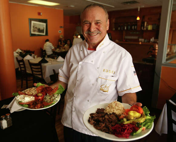 Owner and chef Helim Yildiz serves traditional Turkish recipes at the new Star of Istanbul Restaurant at 29 Markle Court in downtown Bridgeport. Photo: Brian A. Pounds / Connecticut Post