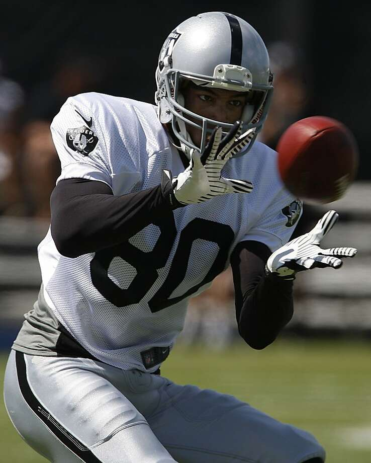 Receiver Rod Streater has been impressing Raiders coaches with his route running, speed and hands at training camp in Napa. Photo: Liz Hafalia, The Chronicle