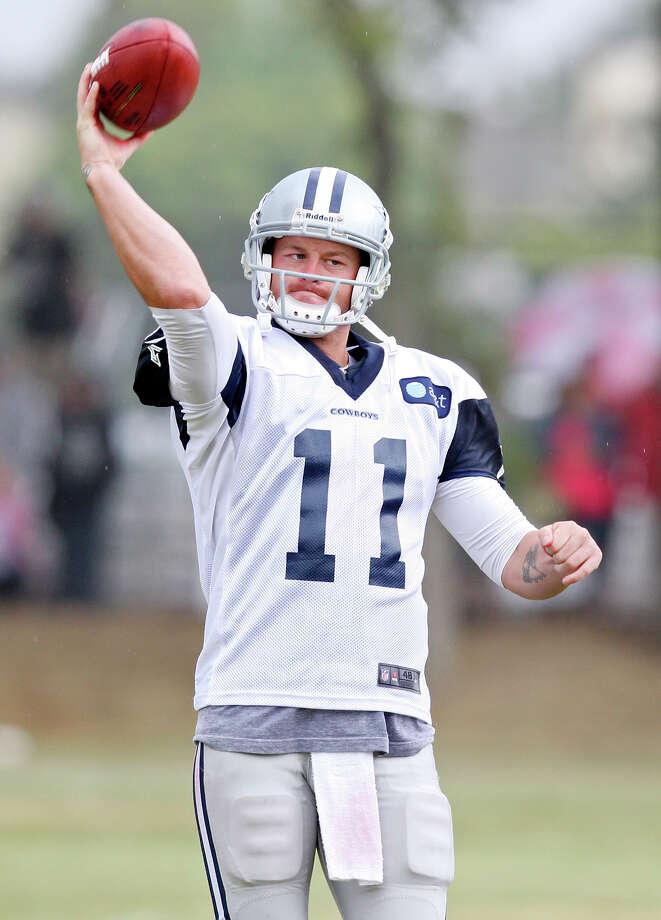 Dallas Cowboys quarterback Rudy Carpenter passes during 2012 training camp held Friday Aug 3, 2012 in Oxnard, CA. Photo: Edward A. Ornelas, Express-News / © 2012 San Antonio Express-News