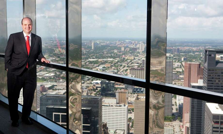 Brent Benoit, the new incoming president of the Houston Bar Association, stands on the 60th floor of JPMorgan Chase Tower Monday, July 16, 2012, in Houston. (Cody Duty / Houston Chronicle) Photo: Cody Duty / © 2011 Houston Chronicle