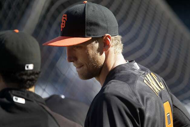 San Francisco Giants' Hunter Pence waits to take batting practice prior to a baseball game against the New York Mets, Wednesday, Aug. 1, 2012, in San Francisco. The Giants acquired Pence in a trade with the Philadelphia Phillies on Tuesday. (AP Photo/Ben Margot) Photo: Ben Margot, Associated Press