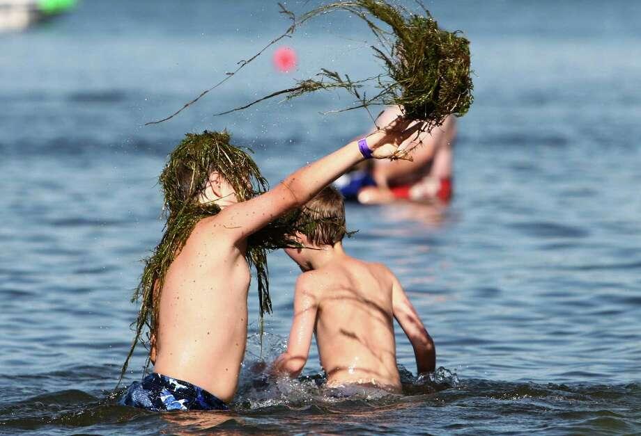 A young festivalgoer has fun. Photo: JOSHUA TRUJILLO / SEATTLEPI.COM
