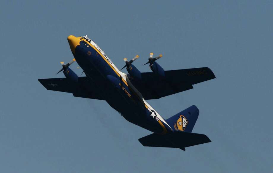 The Blue Angels C-130, Fat Albert, performs over Lake Washington on Friday, August 3, 2012 during Seafair 2012. Photo: JOSHUA TRUJILLO / SEATTLEPI.COM