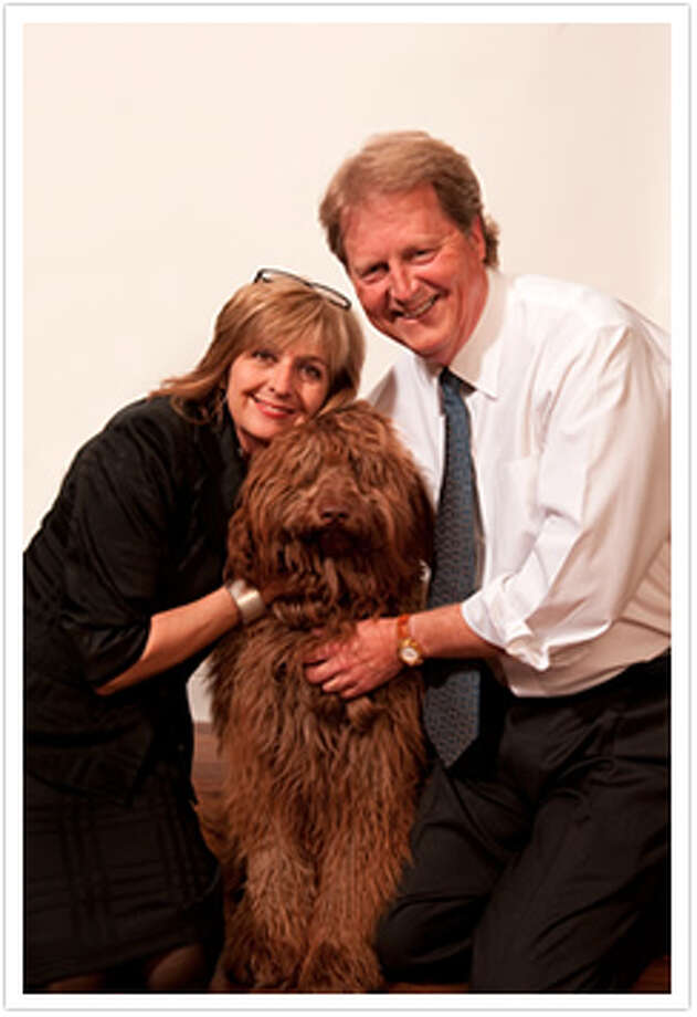 Democrat Paul Sadler with his wife Sherri and dog murphy (sadlerforsenate.com)