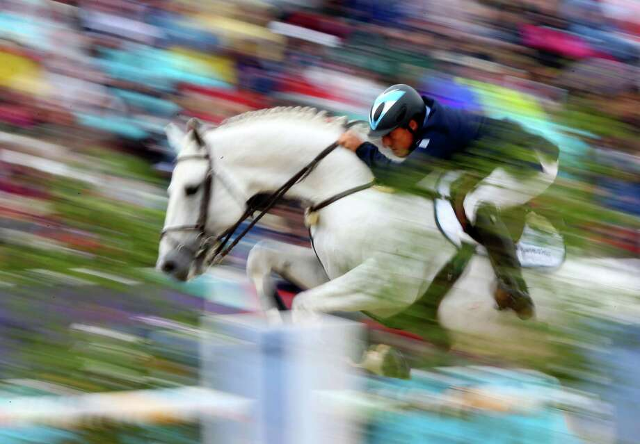 Alejandro Madorno of Argentina riding Milano de Flore competes in the 1st Qualifier of Individual Jumping at Greenwich Park. Photo: Alex Livesey, Getty Images / 2012 Getty Images