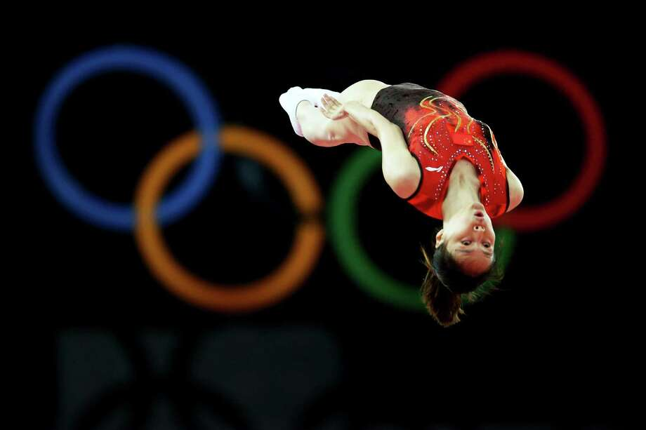 Shanshan Huang of China competes in the Trampoline at North Greenwich Arena. Photo: Ronald Martinez, Getty Images / 2012 Getty Images