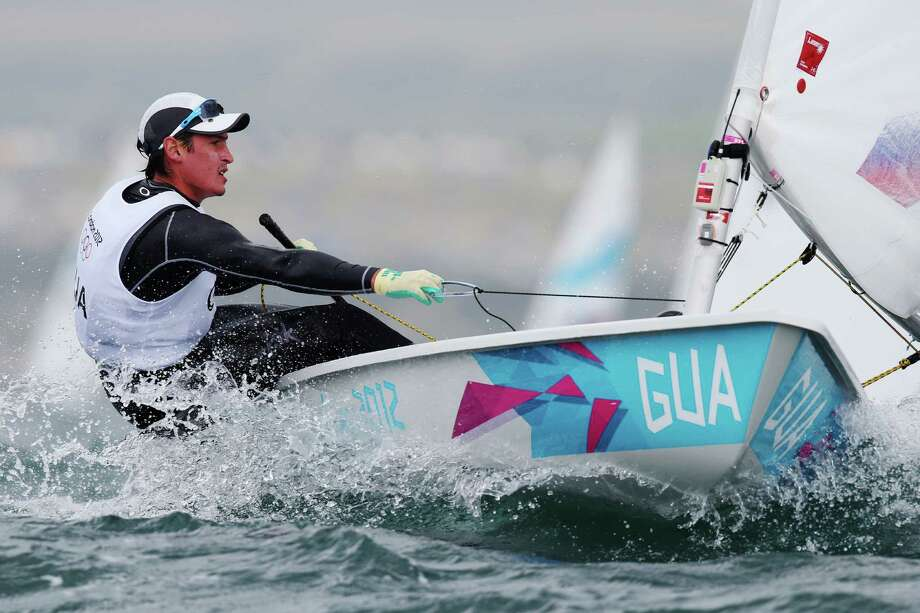 Juan Ignacio Maegli of Guatemala competes in the Men's Laser Sailing at the Weymouth & Portland Venue at Weymouth Harbour in Weymouth, England. Photo: Clive Mason, Getty Images / 2012 Getty Images