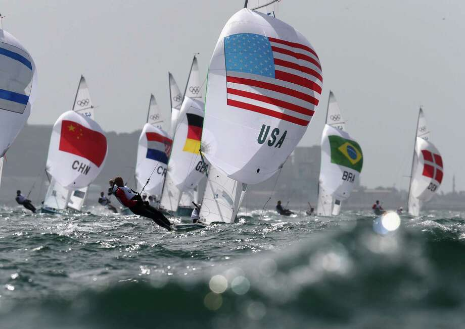 Amanda Clark and Sarah Lihan of the United States compete in the 470 Women's Class Sailing at the Weymouth & Portland Venue at Weymouth Harbour in Weymouth, England. Photo: Clive Mason, Getty Images / 2012 Getty Images