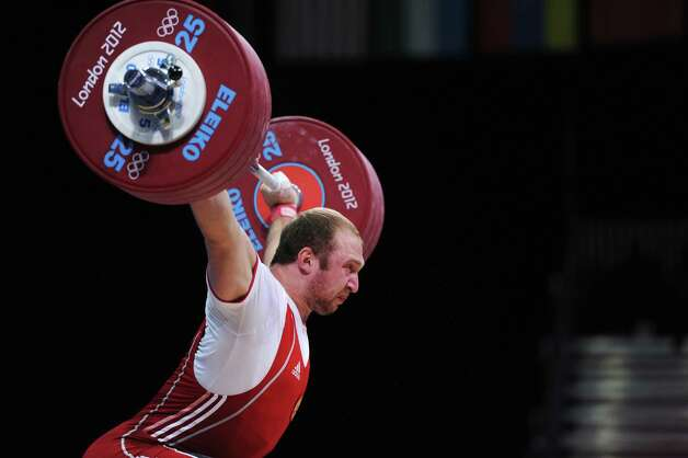Silver medallist Alexandr Ivanov of Russia competes in the Men's 94kg Weightlifting final at ExCeL. Photo: Michael Regan, Getty Images / 2012 Getty Images