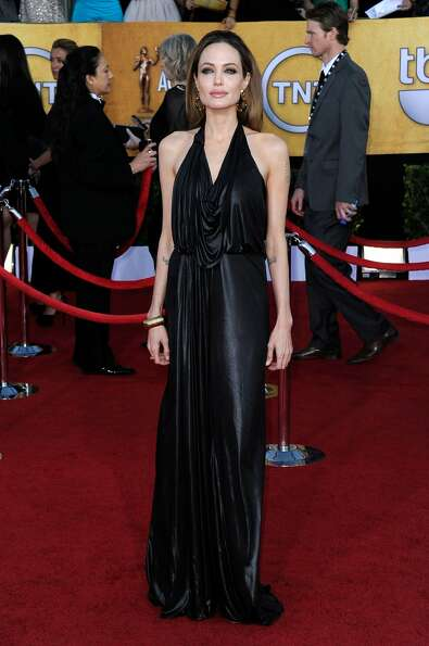 Jolie at the Screen Actors Guild Awards in January.  (Frazer Harrison / Getty Images)