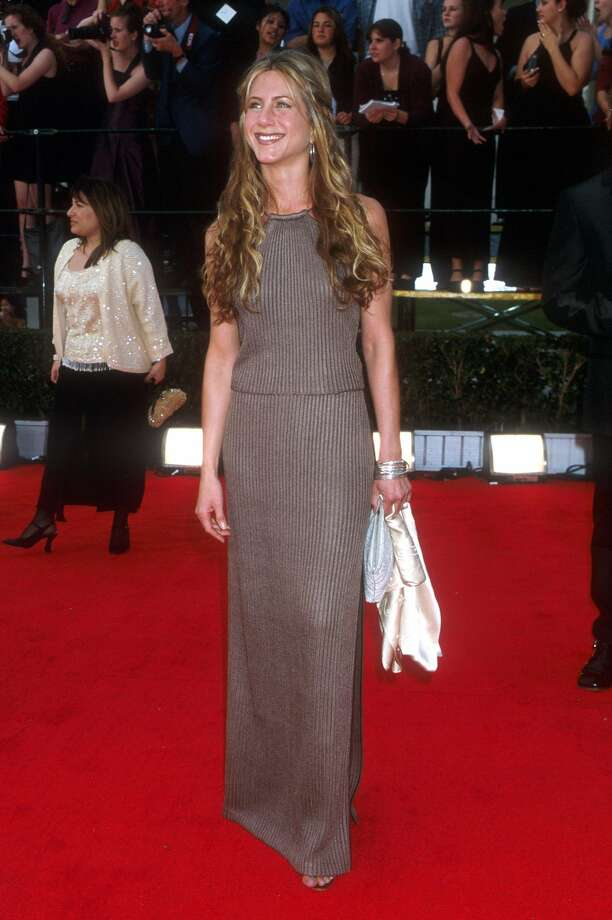 Jennifer Aniston also made Forbes' list of highest-paid TV actresses. Here's Aniston in 2000.  (Getty Images)