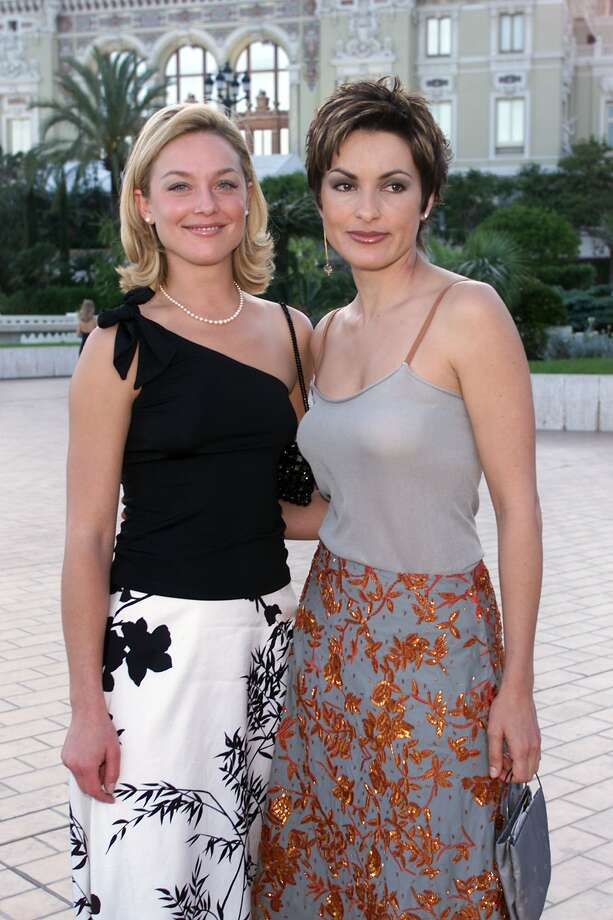 "Mariska Hargitay (right) also made Forbes' TV actress list. Here's the ""Law & Order: SVU"" actress in 2001, with Elizabeth Rohm (left).  (Getty Images)"