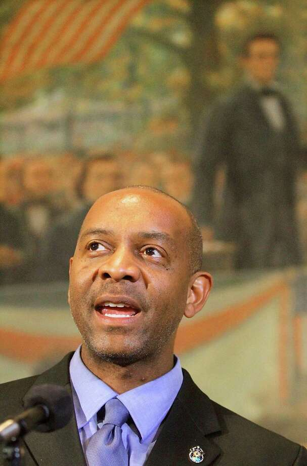 NASA astronaut, physician, and chemical engineer, Dr. Robert Satcher speaks with news reporters after Illinois Gov. Pat Quinn proclaimed Robert Satcher Day in Illinois in honor of Satcher at the Illinois State Capitol in Springfield, Ill., Tuesday, April 13, 2010. (AP Photo/Seth Perlman) Photo: Seth Perlman / AP2010