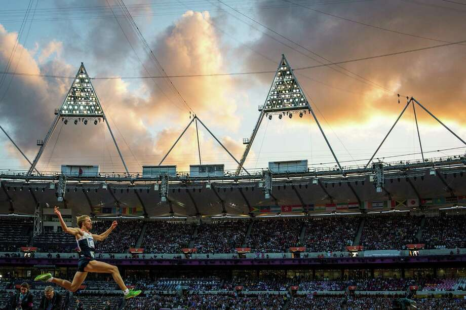 Christopher Tomlinson of Great Britain competes in the men's long jump final at the 2012 London Olympics on Saturday, Aug. 4, 2012. Photo: Smiley N. Pool, Houston Chronicle / © 2012  Houston Chronicle