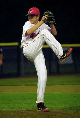 Connecticut's Matt Kubel pitches against Vermont, during 2012 Little League Baseball Eastern Regional action in Bristol, Conn. on Saturday August 4, 2012. Photo: Christian Abraham / Connecticut Post