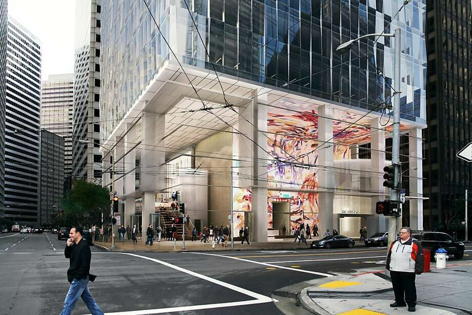 A 24-story tower set to rise at 350 Mission St. is one of a number of all-glass towers now proposed or approved in downtown San Francisco. This one, at the northeast corner of Mission and Fremont streets, is designed by SOM. Photo: Skidmore Owings Merrill LLP
